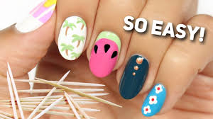 Nail Art For Beginners Using A TOOTHPICK! #2 - YouTube