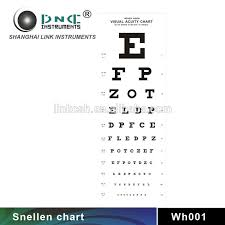 Visual Acuity Snellen Chart How To Use Wh001 Chinese Optical Equipment Visual Acuity Eye Chart View Visual Acuity Eye Chart Link Product Details From Shanghai Link Instruments Co Ltd