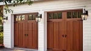 wood garage door. Faux Wood Garage Door