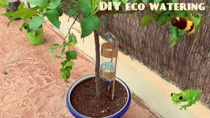 how to diy self watering system for plants or trees