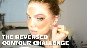 the reversed contour challenge with subs linda hallberg makeup tutorials you
