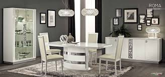 Roma Modern Italian White High Gloss Lacquer Dining Table w ...