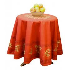 provence tablecloth olive tree red round 70 100