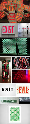 17 best ideas about emergency exit signs exit sign sculpture and installations that use exit signs exit signs as art