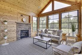 fireplace knotty pine