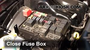 replace a fuse 2011 2016 chrysler 300 2012 chrysler 300 limited 6 replace cover secure the cover and test component