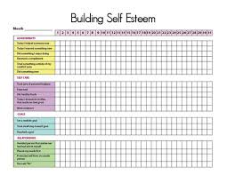 Activity And Mood Monitoring Chart Printable Self Esteem Tracker I Self Esteem Activities