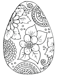 Preschool Easter Coloring Pages Best Free Eggs Coloring Pages