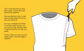 t shirt cutting sleeves off muscle top