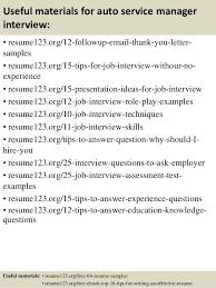 Automotive Service Manager Resume Top 8 Auto Service Manager Resume Samples