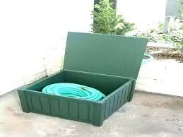 garden hose storage box hideaway hose reel box garden hose reel box gardening garden hose storage