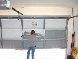 fixing garage doorGarage door insulation Reflective insulation or foam boards