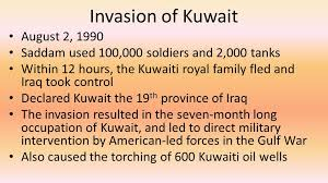 「1990 Iraq declared  Kuwait occupied」の画像検索結果