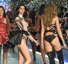 Gigi Hadid and Kendall Jenner in skimpy underwear at Victoria\u0027s ...