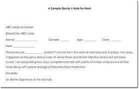 Doctors Note Templates Blank Formats To Create Excuse Fake