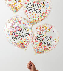Ginger Ray 4 Pack Rainbow Confetti Birthday Balloons Add To Saved Items Remove From Saved Items