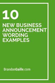 10 New Business Announcement Wording Examples Card Messages