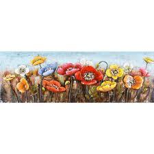 colour metal wall art original organics