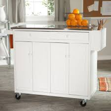 Extra Kitchen Storage White Glossy Small Portable Kitchen With Extra Storage And
