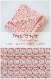 Cozy Clusters Free Crochet Baby Blanket Pattern. Crocheted ...