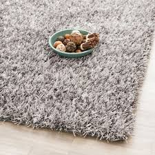 image of grey plush area rugs