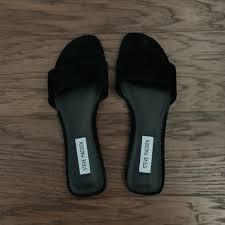 Steve Madden Shoes | Steve Madden Bev Black Suede Sandals | Poshmark