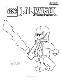 Cole Lego Ninjago Coloring Page Super Fun Coloring