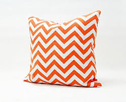 Orange And White Pillow Covers