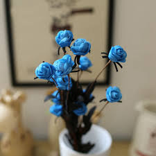 15pcs Bouquets Head Rose Honana Dx f1 Party Artificial Flowers Fake RqOwE