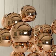 details about tom dixon ball bronze pendant lamp rose gold glass kitchen ceiling light fixture