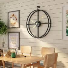 scandinavian iron wall clock