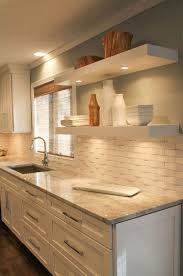 white tile kitchen countertops. Plain White Granite Counters With White Subway Backsplash In Tile Kitchen Countertops