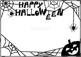 おしゃれハロウィン蜘蛛の巣フレーム枠無料イラスト55425 素材good