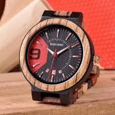 homesaccessories wooden wrist watch in a wooden gift box bobo bird