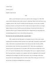 harrison bergeron documents course hero harrison bergeron post modernism essay docx