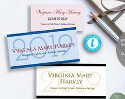 Graduation Name Card Inserts Template Printable Graduation Name Card Insert Easy To Customize Etsy
