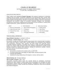 Graphic Design Resumes Sample Resume For A Graphic Designer Graphic