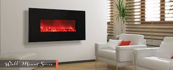 contemporary slim wall mount electric fireplace le