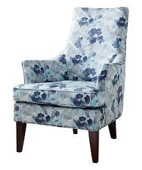 blue fl swoop arm chair