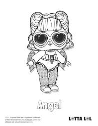 Coloring Pages Of Lol Durprise Dolls 80 Pieces Of Black And White