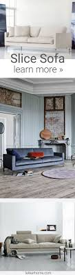 The Danish modern Slice Sofa pairs beautiful form with its feather-down  cushions for a  Stylish Living RoomsLiving ...