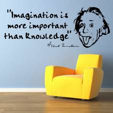 Us 999 Albert Einstein Quotes Imagination Is More Important Than Knowledge Vinyl Wall Art Sticker Mural Decal In Wall Stickers From Home Garden