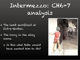 the kite runner chapter  guilt 8 intermezzo ch6 7 analysis