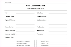 application for credit account template template free customer account application form template credit e