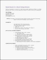 Recent College Grad Resume Samples College Students Resume Resume Sample