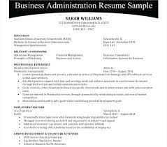 Sample Business Administration Resume Objective For Administrative