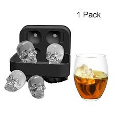 NEW <b>Silicone 3D Skull</b> ICE Cube Tray Maker Mold for Cube ...