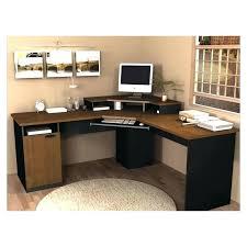 corner home office desks. Corner L Desk Computer Desks For Your Home Office Furniture Amazing Brown Top Black With Hutch Plans