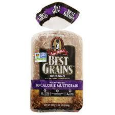 Aunt Millie S Light Whole Grain Bread Nutrition Aunt Millies Best Grains Non Gmo Bread 80 Calorie