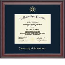 university of connecticut storrs campus bookstore church hill  church hill classics studio embossed diploma frame bachelors masters